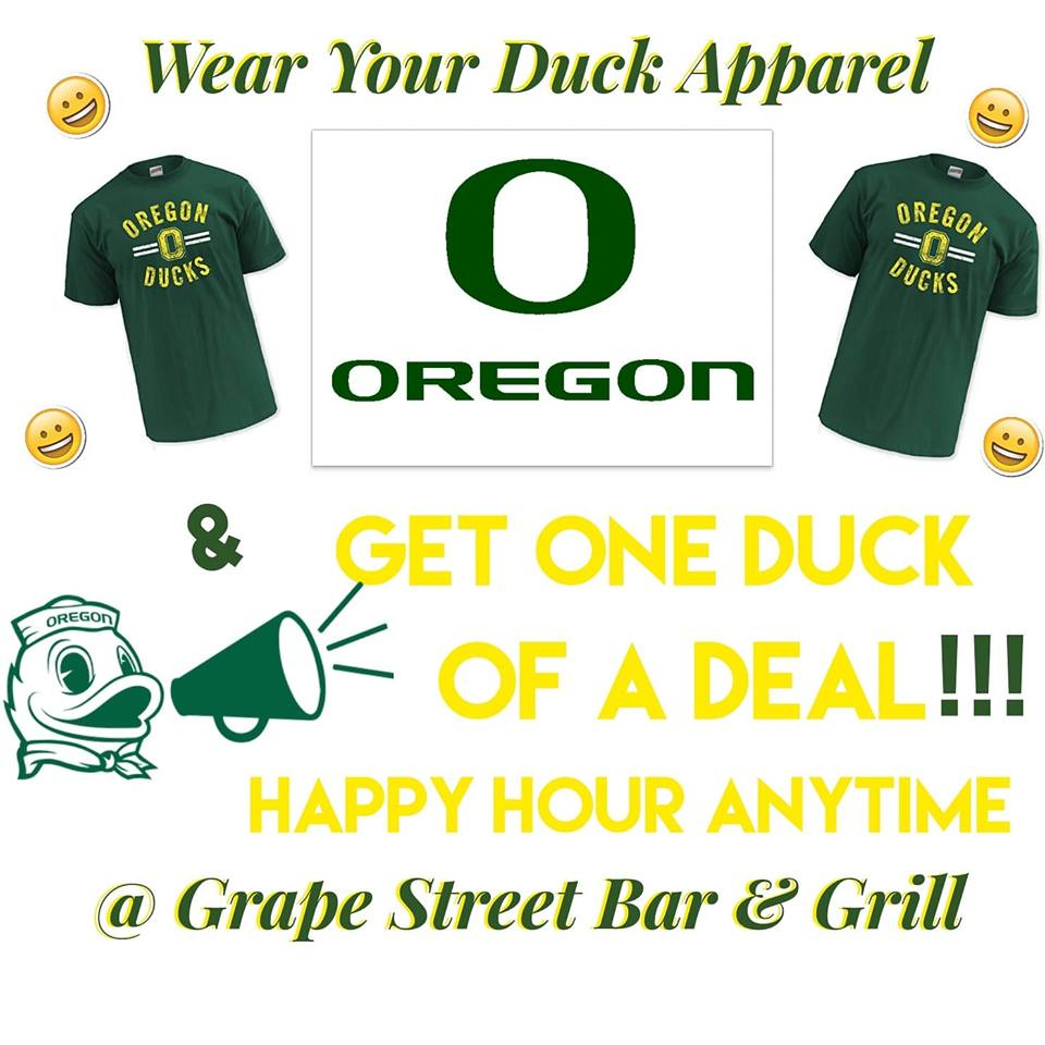 duck apparel happy hour deal